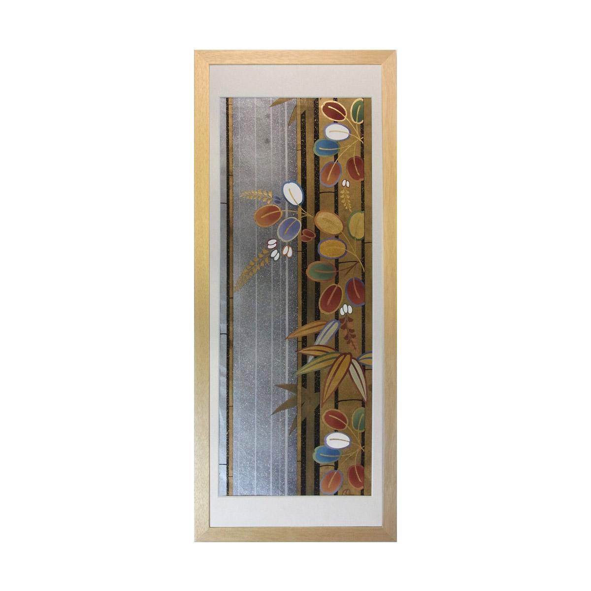 和風の額 壁掛インテリア 西陣織帯原画のアートフレーム 《30》