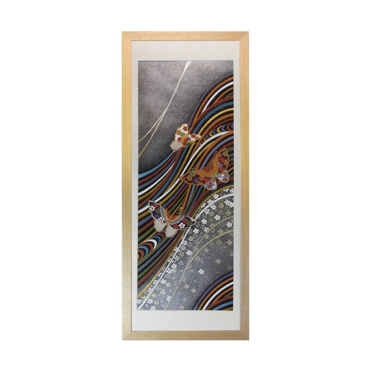 和風の額 壁掛インテリア 西陣織帯原画のアートフレーム 《32》