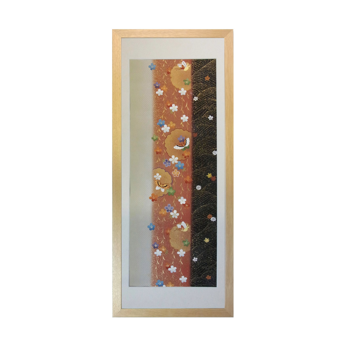 和風の額 壁掛インテリア 西陣織帯原画のアートフレーム 《38》