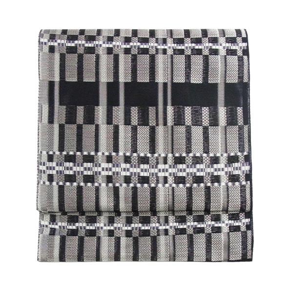 【送料無料】名古屋帯 正絹 西陣織 絽 夏用 絽名古屋帯 縞