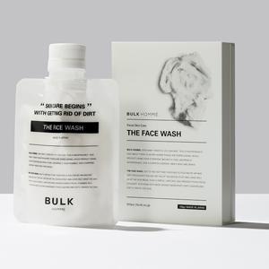 男性の為の本質的なスキンケア製品 あす楽 BULKHOMME 正規代理店 バルクオム ザ 限定品 フェイス 100g ウォッシュ 評価 洗顔料 WASH THE FACE