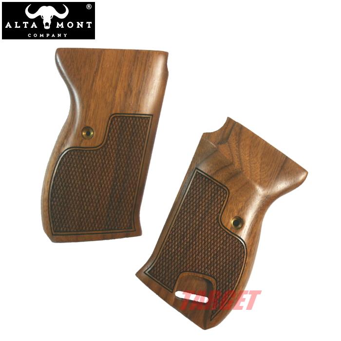 アルタモント ワルサー P38用 木製グリップ コマーシャルタイプ ウォルナット (ALTAMONT WALTHER ブラウン)