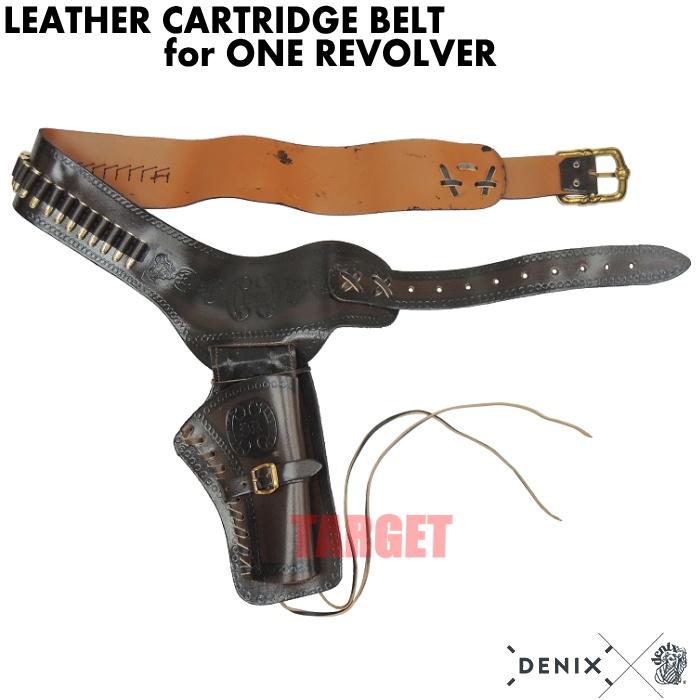 DENIX リボルバー用ガンベルト カートリッジ付 703 (デニックス COLT SAA ピースメーカー レプリカ)