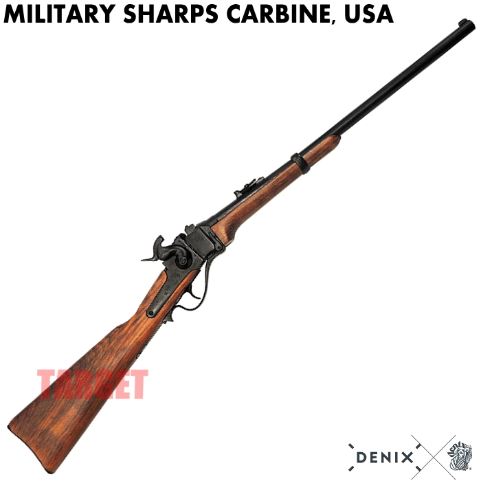 非発火 非排莢式モデルガン 商品 小銃 ライフル ミリゲットン DENIX シャープスカービン モデル1859 軍用シャープス銃 日本メーカー新品 レプリカ 1142 USA ブラック N アメリカ デニックス