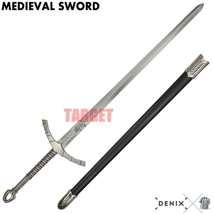 DENIX メディーバルソード シルバー 4183/NQ (デニックス 中世の剣 模造刀剣)