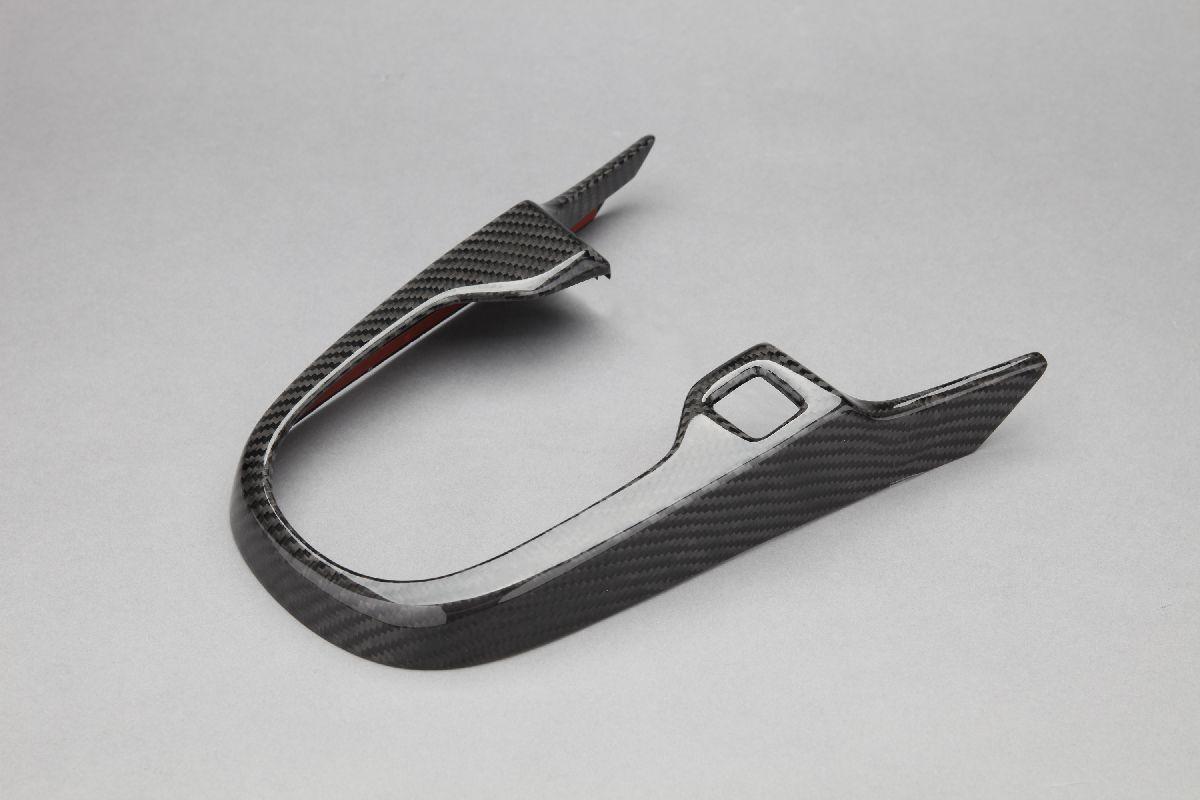 【VISION】 カーボンパーツ シフトゲートカバー フィットハイブリッド 2013.9~ GP5.6 簡単装着!【運送便 60サイズ 対応】