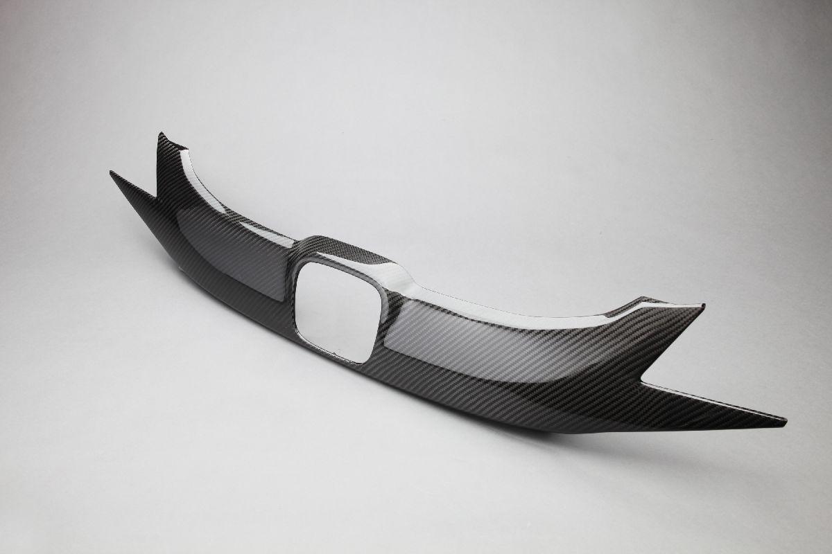 【VISION】 カーボンパーツ フロントグリルカバー フィットハイブリッド 2013.9~2015.8(前期) GP5.6 簡単装着!【運送便 100サイズ 対応】