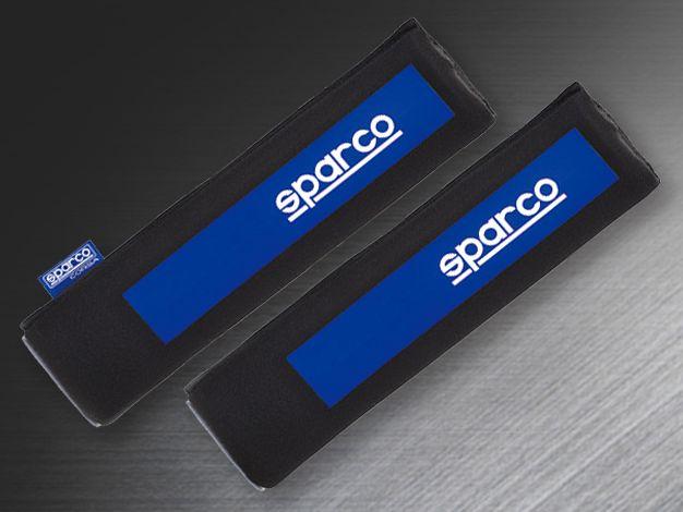 フック ルーフの簡単装着 Sparco 年間定番 スパルコCORSA セール特価品 SPC ショルダーパット 60サイズ 対応 ブルー 運送便 2個入り