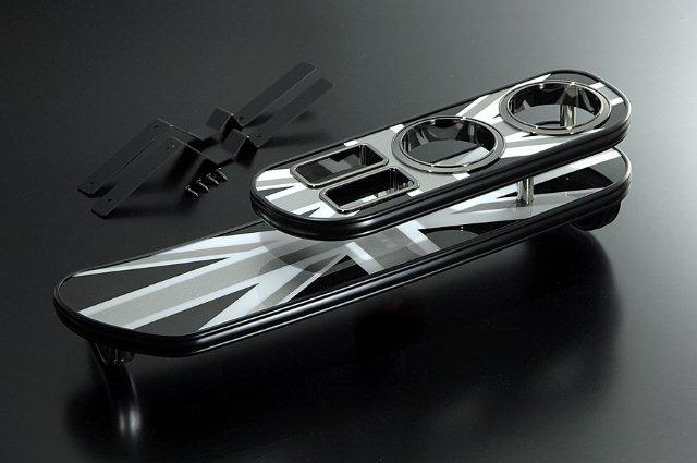 【BUSSELL】MINI専用フロントナビテーブル ブラックジャック BMW ミニ(R52) RF16.RH16 コンバーチブル※グローブボックスがない車種は装着不可【運送便 100サイズ 対応】