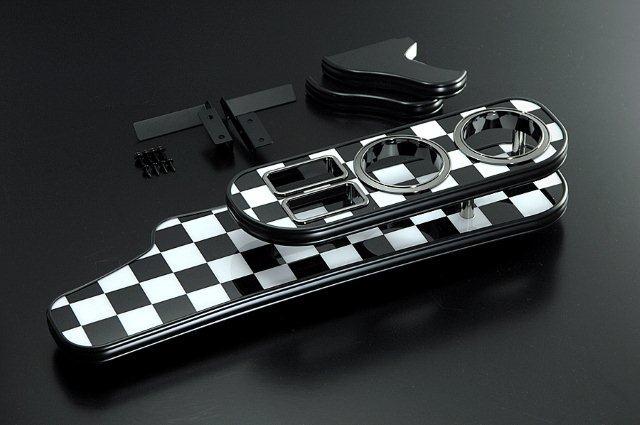 【BUSSELL/バッセル】MINI専用フロントナビテーブル チェッカーフラッグ BMW ミニ(R55) ML16.MM16.ZF16.ZG16 クラブマン【運送便 100サイズ 対応】
