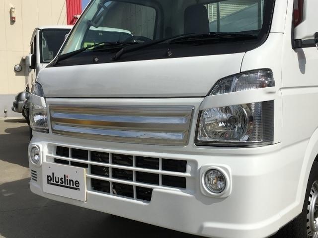 plusline/プラスライン ハイスタイル キャリイ DA16T ヘッドライトガーニッシュ ※代引き不可 特殊送料 アイライン