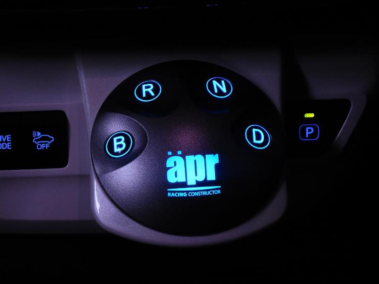 【apr】エレクトロニック・シフトスイッチ7 プリウス ZVW50.ZVW51.ZVW55 2015.12~ プリウス50のシフトレバーをシフトスイッチに!(後期型でメーカーオプションのパノラミックビューモニター搭載車は取り付け不可)※代引き不可【運送便 60サイズ 対応】