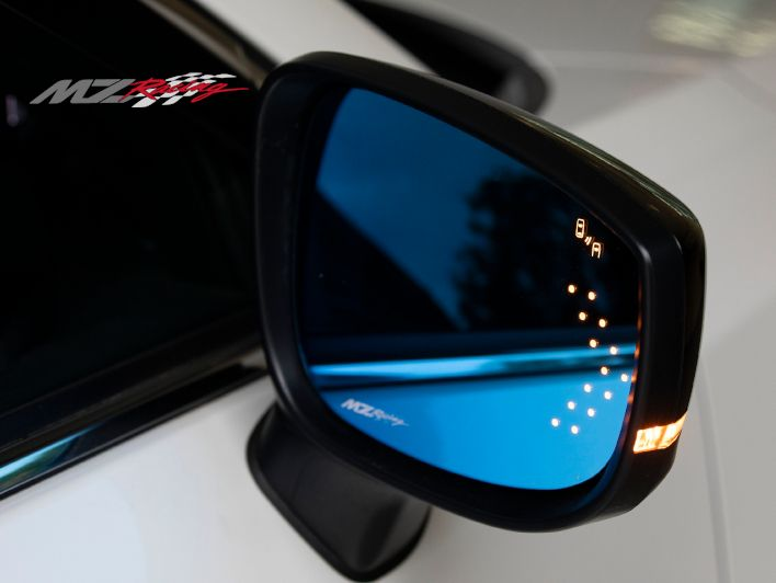 MZRacing マルチファンクションLEDブルーミラー CX-8 KG系 防眩ブルーワイドミラー親水コート処理済 左右1セット MZレーシング 車検対応品【運送便 60サイズ 対応】