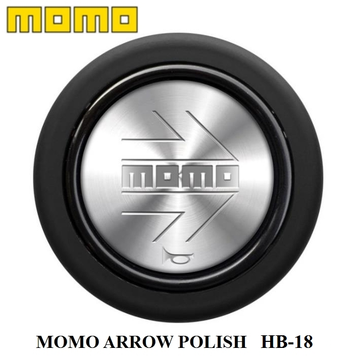 MOMOの正規品 正規品 MOMO ストアー ホーンボタン HB-18 ARROW POLISH モモ アロー 300円 運送便 本物 センターリングなしステアリング専用ホーンボタン ゆうパケット ポリッシュ 対応 60サイズ