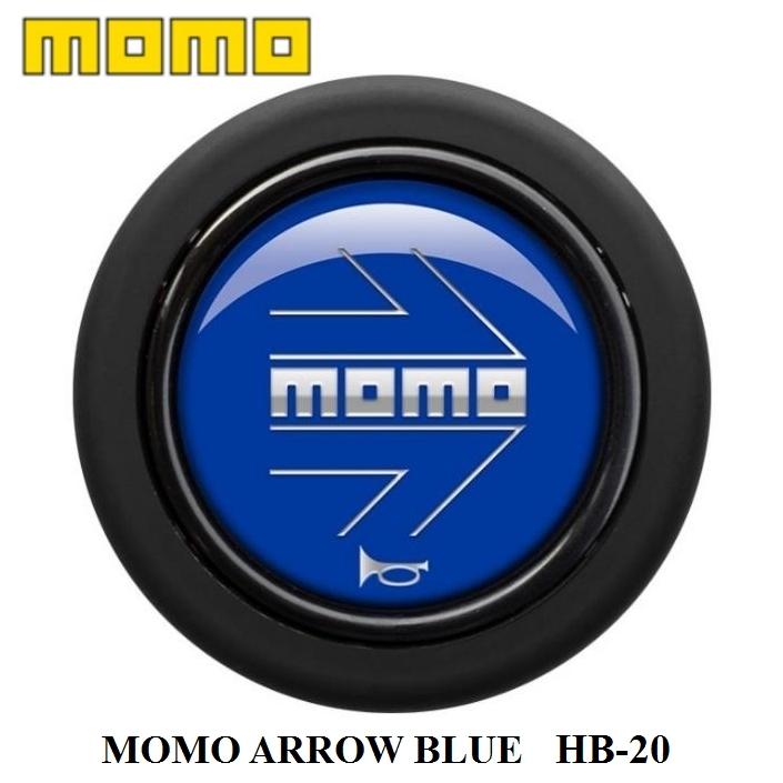 MOMOの正規品 正規品 MOMO 出荷 国内正規総代理店アイテム ホーンボタン HB-20 ARROW BLUE モモ アロー 300円 60サイズ 運送便 ブルー 対応 センターリングなしステアリング専用ホーンボタン ゆうパケット