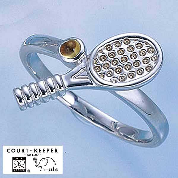 コートキーパー テニスラケットシトリンリング(CK-SR6)