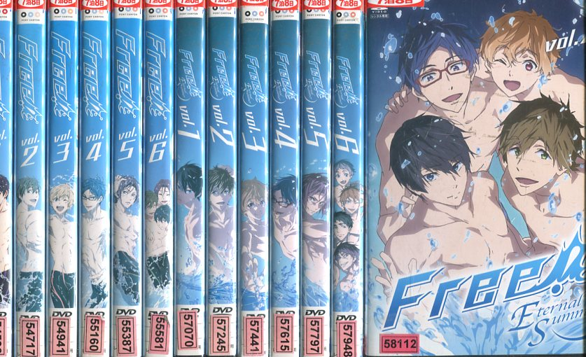 Free !全6巻+ Eternal Summer全7巻【全13巻セット】【中古】全巻【アニメ】中古DVD