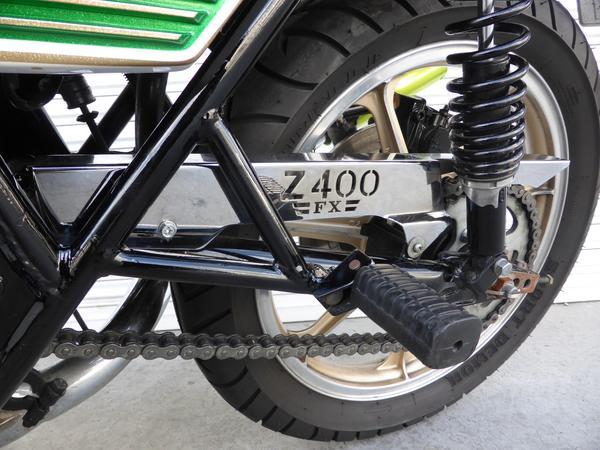 Z400FX ロゴ入メッキチェーンカバー KZ400E TSH KAWASAKI カワサキ 【店頭受取対応商品】
