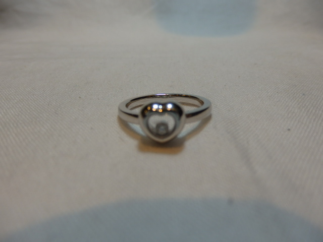 ショパール K18WG ダイヤモンドリング D0.03ct 新品・正規品(国際保証書請求はがき有)