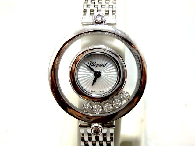 ショパール Chopard ハッピーダイヤモンド ホワイトゴールド レデイース腕時計 30%OFF 209416-1001