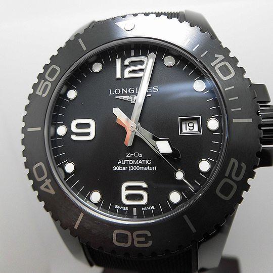 ロンジン ハイドロコンクエスト ダイバーズ メンズ 腕時計 L3.784.4.56.9