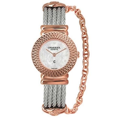 シャリオール CHARRIOL ST-TROPEZ Art Deco レディース腕時計 028IP.540.326