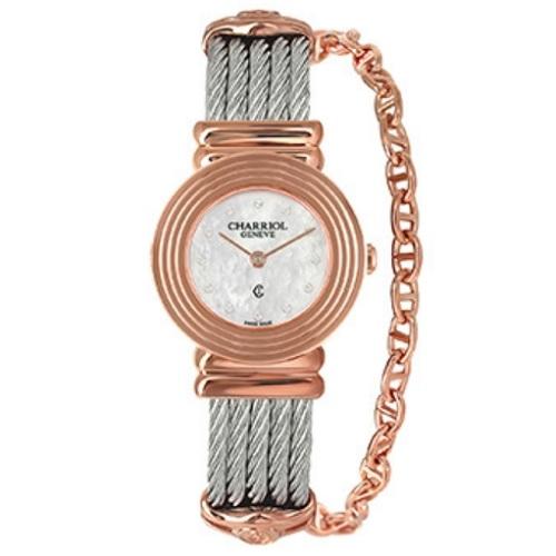 シャリオール CHARRIOL ST-TROPEZ Art Deco レディース腕時計 028LP.540.326
