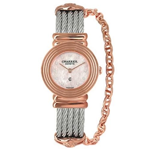 シャリオール CHARRIOL ST-TROPEZ Art Deco レディース腕時計 028LP.540.462