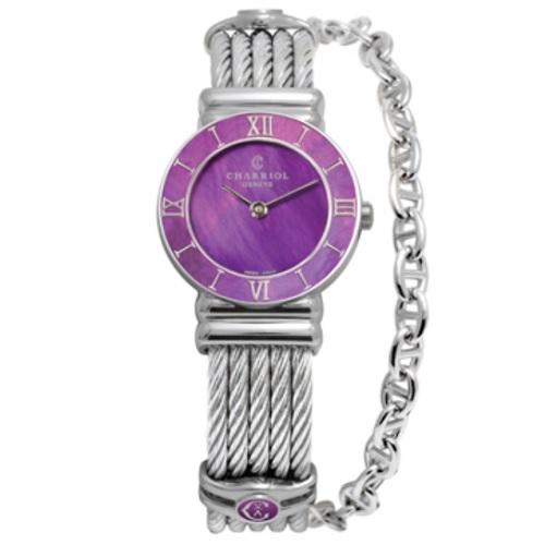 シャリオール CHARRIOL ST-TROPEZ PLUM レディース腕時計 028SPI.540.553