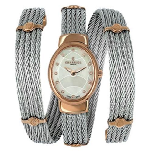 シャリオール CHARRIOL TWIST レディース腕時計 TWOP.510.O01