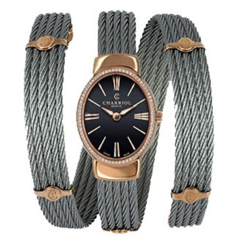 シャリオール CHARRIOL TWIST レディース腕時計 TWOPD.510.O03
