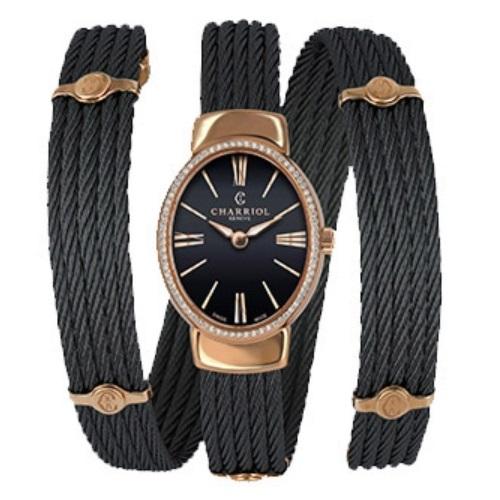 シャリオール CHARRIOL TWIST レディース腕時計 TWOPD.515.O03