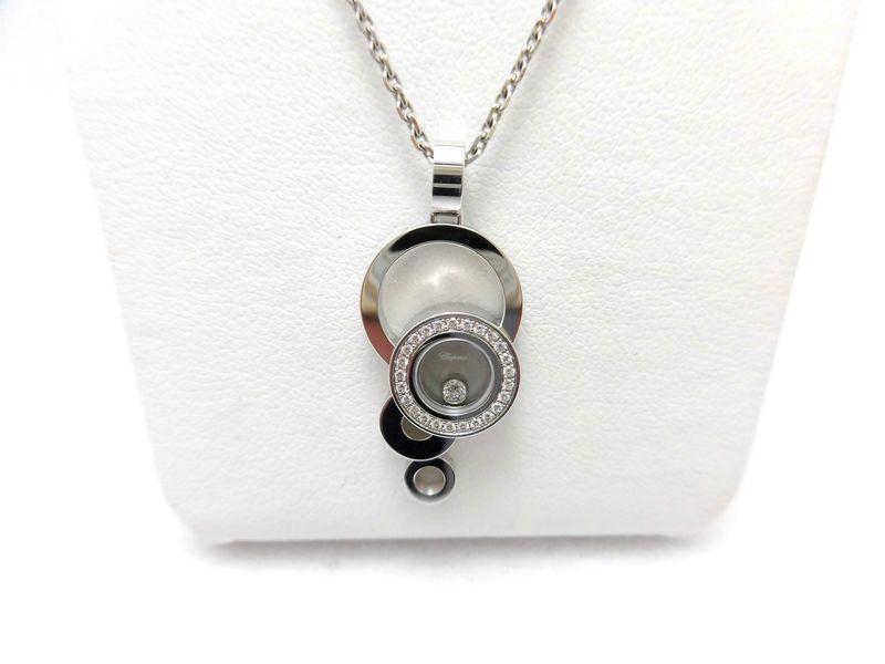 ショパール WG ダイヤネックレス 0.11ct 796983-1001 新品・正規品(国際保証書請求はがき有)