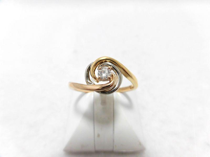K18PTダイヤリング/0.09ct/SI2/GD/G899/ダイヤモンドリング/指輪/ジュエリー/ダイヤ/女性用/レディース/プレゼント/ギフト/お買い得/オススメ/送料込み/宝石