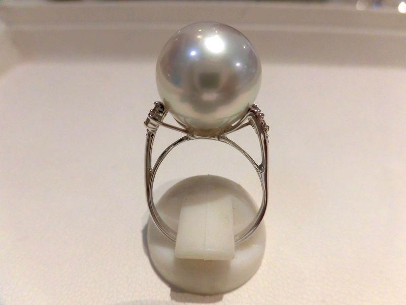 PT南洋真珠ダイヤリング/F2252/パール14.2mm D0.16ct/指輪/ゆびわ/ring/ジュエリー/ダイヤ/女性用/レディース/プレゼント/ギフト/お買い得/オススメ/送料込み/宝石