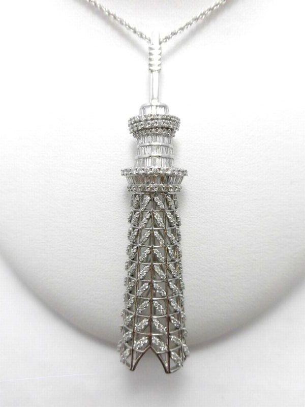 K18WGダイヤモンドペンダントブローチ D3.00ct ペンダント ブローチ プレゼント お買い得