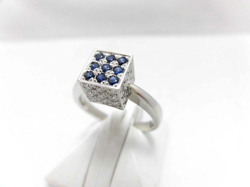 PTサファイアダイヤリング E7189/サファイア0.24ct 0.65ct/ダイヤモンドリング/指輪/ゆびわ/ring/ジュエリー/ダイヤ/女性用/レディース/プレゼント/ギフト/お買い得/オススメ/送料込み/宝石