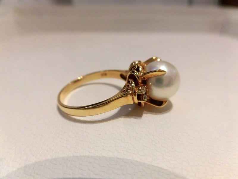K18パールダイヤモンド パール9mm D0 08ct B9550 B9771 リング 指輪 ゆびわ ring ジュエリー 女性用 レディース プレゼント ギフト お買い得 オススメ 送料込み 宝石8wP0knOX
