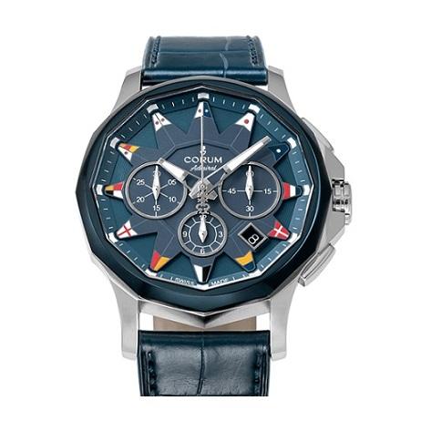 コルム CORUM アドミラル レジェンド 42 クロノグラフ ガンブルー A984/03449 メンズ腕時計 日本限定モデル ブランド 【正規品】