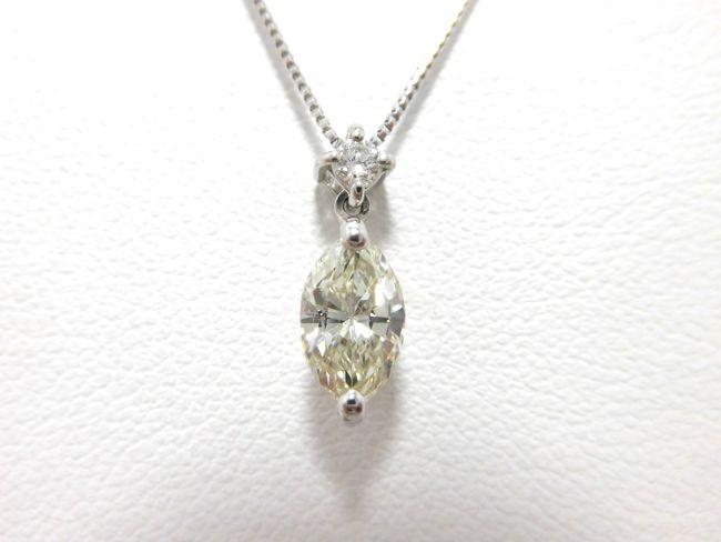 Ptダイヤペンダント 0.64ct 0.04ct 45cm ペンダント ダイヤモンド
