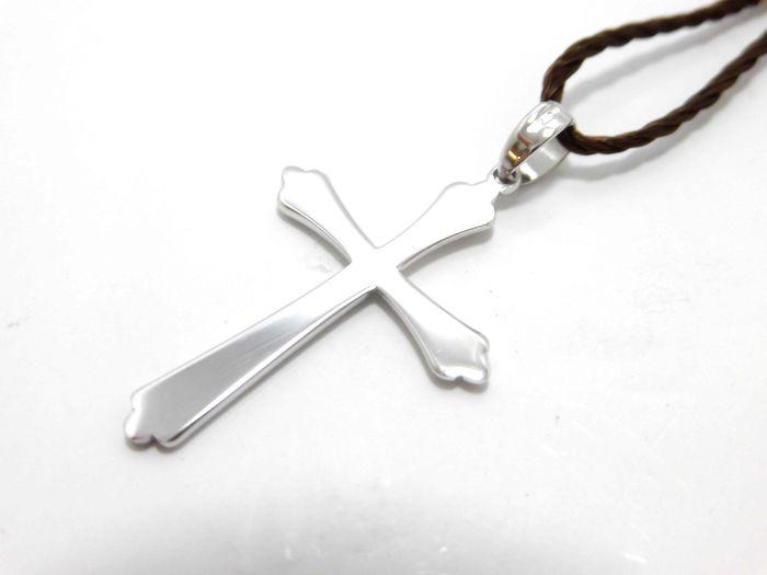 ウノアエレ K18WG ペンダントトップ 十字架 クロス チャーム メンズ レディース