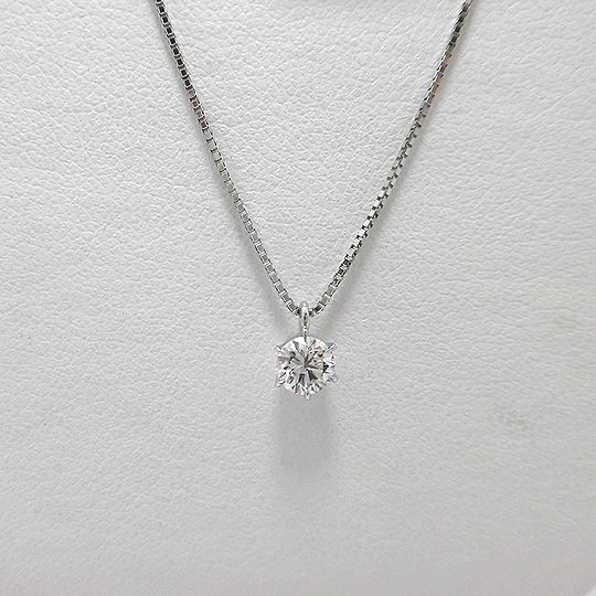 一粒ダイヤネックレス PT900 PT850 0.314CT ジュエリー ピアス プレゼント 贈り物 ギフト 女性用 G2585