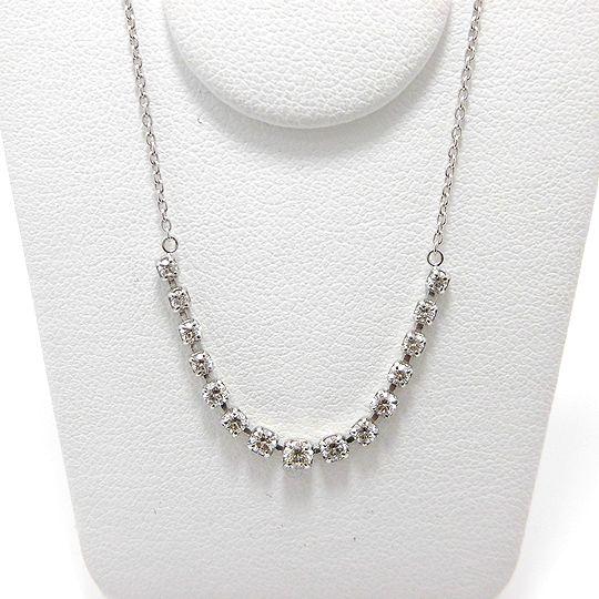 ダイヤネックレス K18ホワイトゴールド ダイヤモンド0.5CT ジュエリー ピアス プレゼント 贈り物 ギフト 女性用 G1845