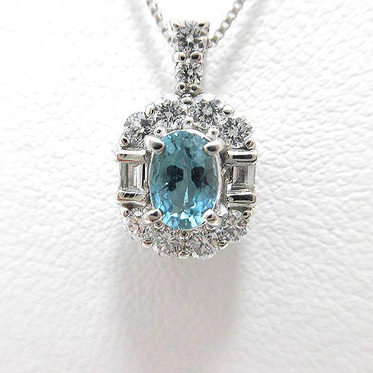 グランディディエライトネックレス プラチナ ダイヤモンド0.34CT ジュエリー ピアス プレゼント 贈り物 希少石 G2576
