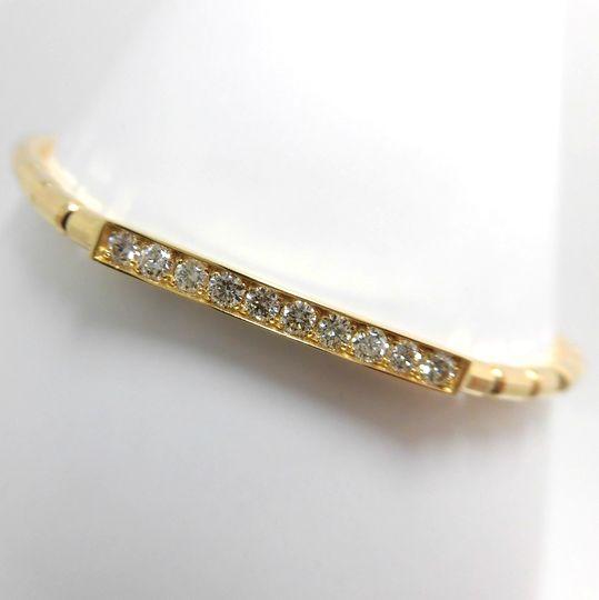 K18ダイヤモンド伸縮ブレスレット イエローゴールド ダイヤモンド ジュエリー アクセサリー 30%OFF