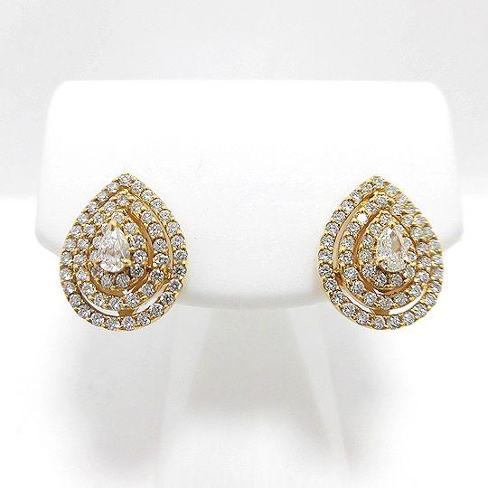 K18YGダイヤピアス イエローゴールド ダイヤモンド G1666 ジュエリー アクセサリー 宝石 送料無料 30%OFF