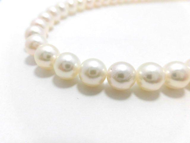 SVアコヤ真珠ネックレス/真珠7~7.5mm/42cm/ジュエリー/真珠/パール/ネックレス/