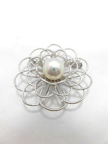 SVアコヤ真珠ブローチ/真珠9.5mm/大きさ3.6cm/KF-178/ブローチ/ジュエリー/女性用/レディース/プレゼント/ギフト/お買い得/オススメ/送料込み/宝石