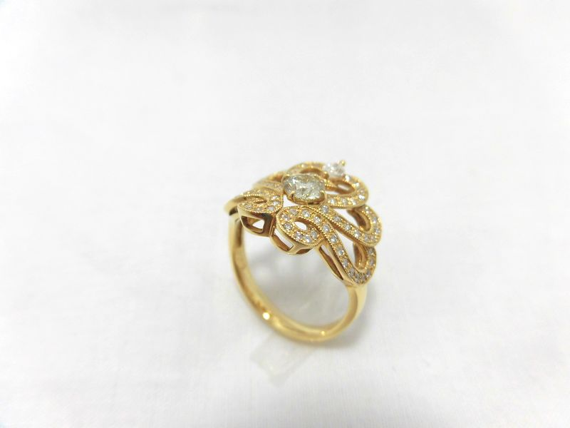 K18ダイヤリング F9690/リング/ダイヤモンドリング/指輪/ゆびわ/ring/ジュエリー/ダイヤ/女性用/レディース/プレゼント/ギフト/お買い得/オススメ/送料込み/宝石