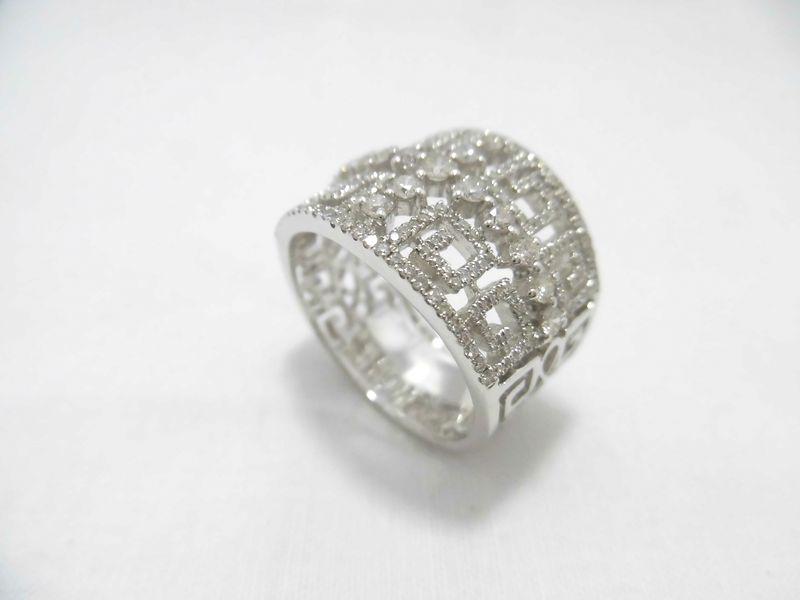 WGダイヤリング F9702/リング/ダイヤモンドリング/指輪/ゆびわ/ring/ジュエリー/ダイヤ/女性用/レディース/プレゼント/ギフト/お買い得/オススメ/送料込み/宝石